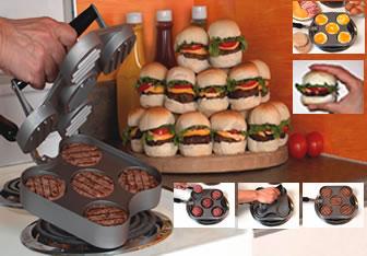 مینی برگر ساز بیگ سیتی | فروشگاه می شاپ... منتقل شود و 2 طرف همبرگر شما به طور یکنواخت پخته می شود * پخت آسان و  سریع *با طراحی منحصربه فرد و کاملا نچسب *قابلیت شست و شو در ماشین ظرف شویی